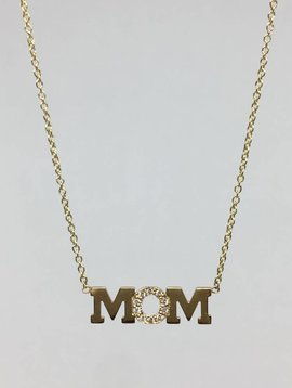 "Zoe Chicco ""Mom"" Diamond Necklace"