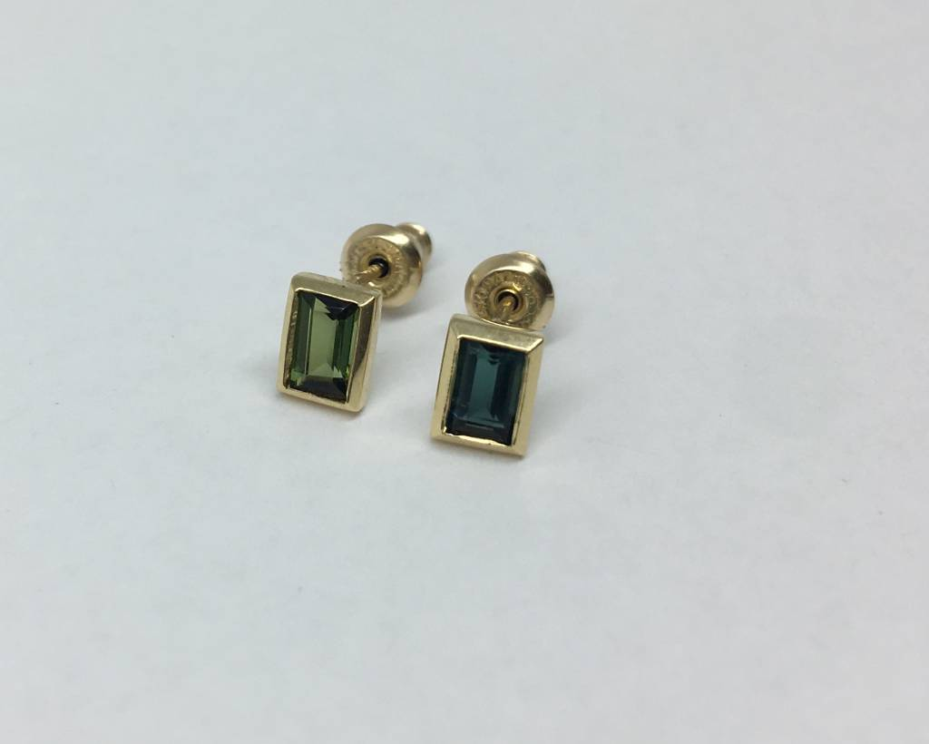 Lindley Gray Tourmaline Baguette Studs