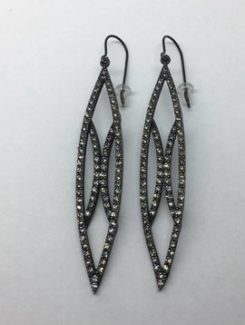 Rebel Design Swarovski Leaf Earring
