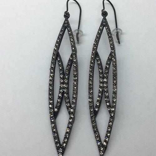 Rebel Design Swarovski Leaf earring