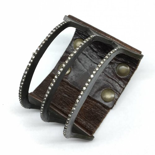 Rebel Design 3 Bar leather bracelet