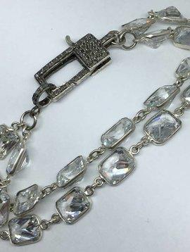 Lotasi Jewels Diamond Clasp Crystal Bracelet