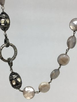 Lotasi Jewels Black Moonstone Necklace