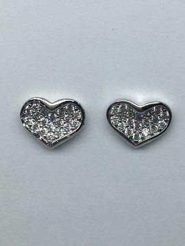 Tai Silver Heart Earrings