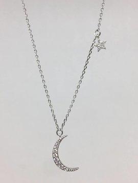 Tai Silver Crescent Necklace