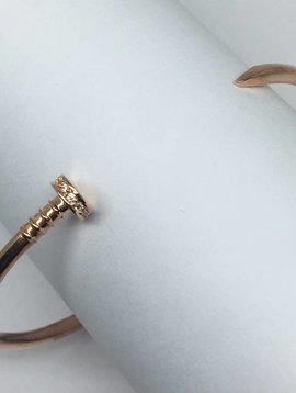 Tai Rose Gold Nail Bracelet