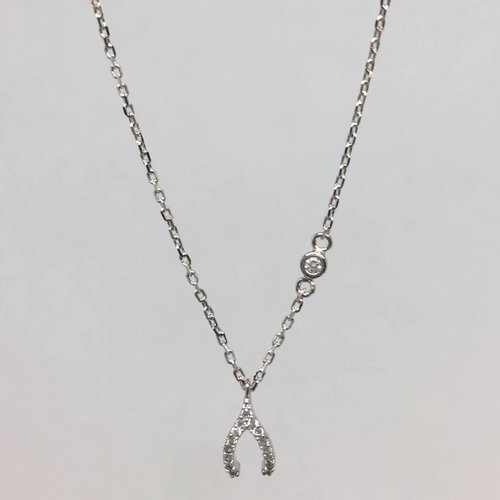 Tai Silver Wishbone Necklace