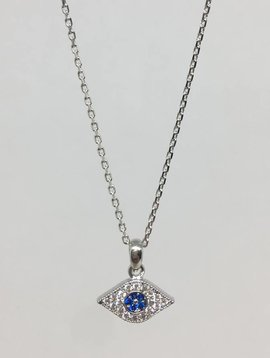 Tai Silver Evil Eye Necklace