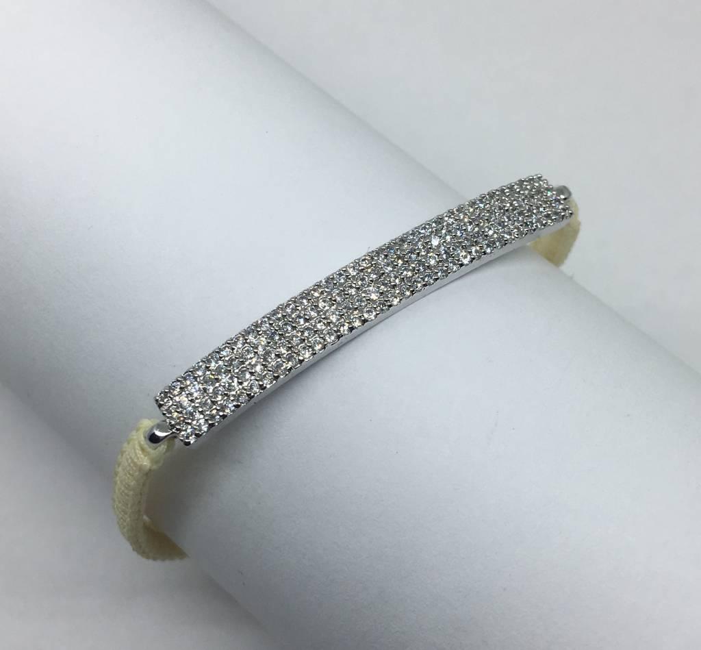 Tai White Bar Bracelet