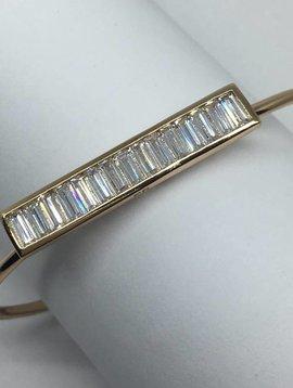 Rachel Ryen Vertical Open Bracelet