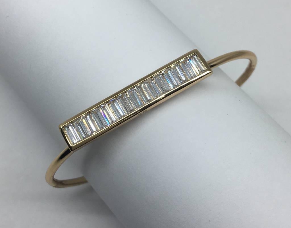 Vertical open bracelet