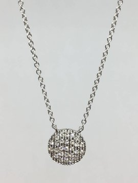 Dana Rebecca Medium  Diamond Disc Necklace