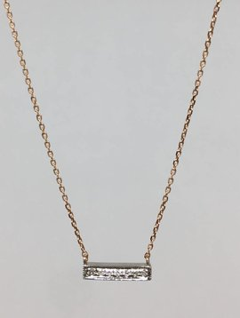 Dana Rebecca Rose Gold Bar Necklace