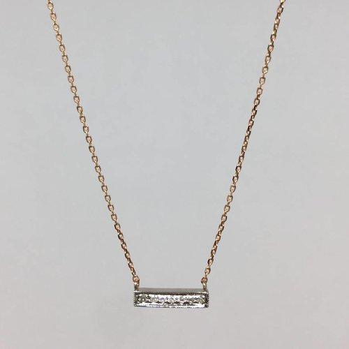 Dana Rebecca Rose Gold Bar Necklace