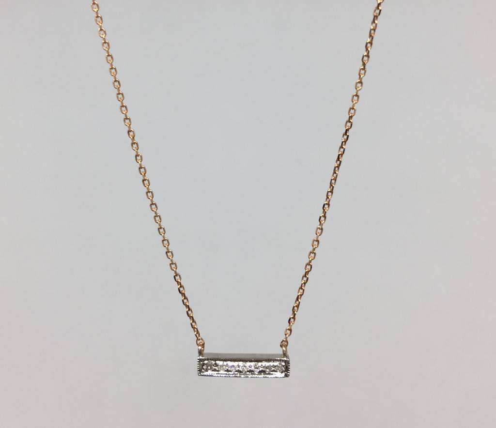 Dana rebecca rose gold bar necklace townhome dana rebecca rose gold bar necklace aloadofball Image collections