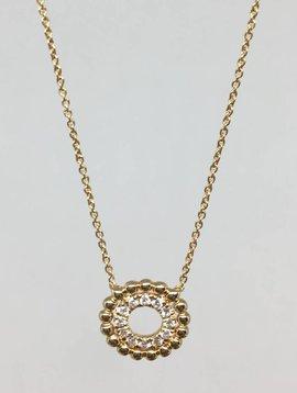 Dana Rebecca Scalloped Circle Necklace