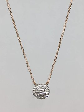 Dana Rebecca Rose Gold Round Necklace