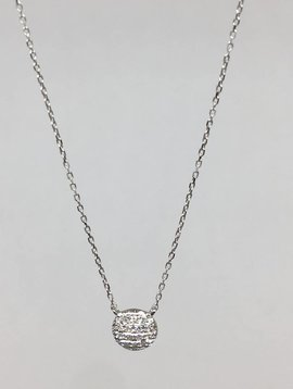 Dana Rebecca White Gold Round Necklace