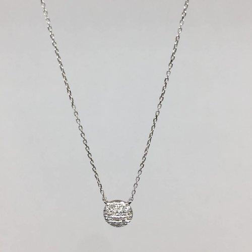 Dana Rebecca White gold round necklace