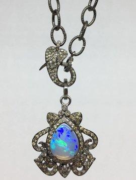 Lotasi Jewels Opal Pendant Necklace