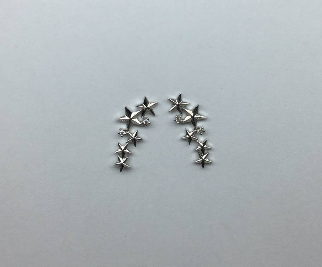 Tai Silver 5 Star Earrings