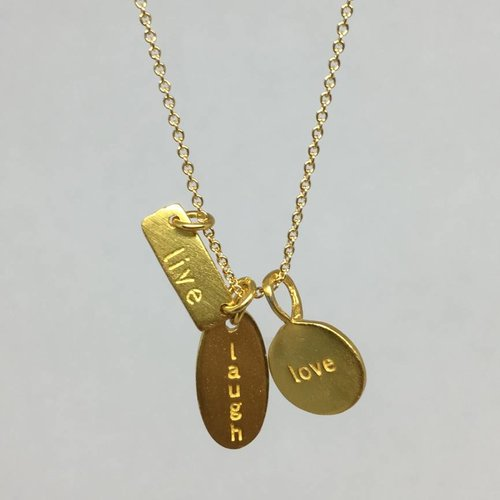 B.U. Live, laugh, love, necklace