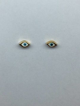 Tai Enamel Evil Eye Earrings