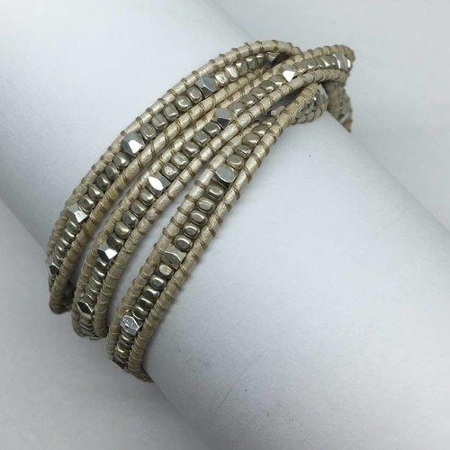 Nakamol Design Metallic Mini Wrap Bracelet