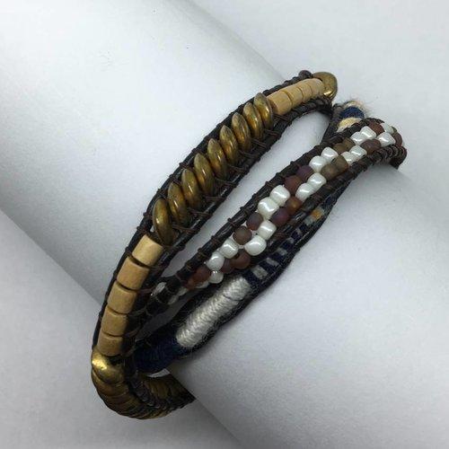 Nakamol Design Brown Mulit Wrap Bracelet