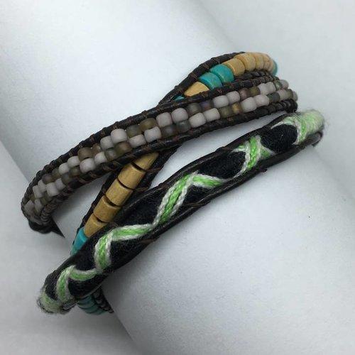 Nakamol Design Turquoise Mulit Wrap Bracelet