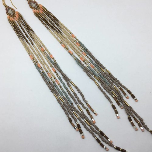 Nakamol Design Long Beaded Earrings