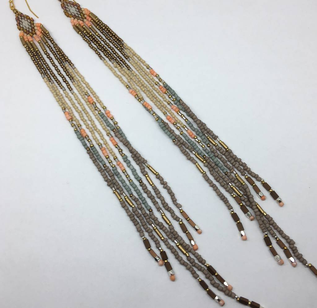 accessories jewellery modcloth in rainb shop beaded main tassels earrings rainbow classy