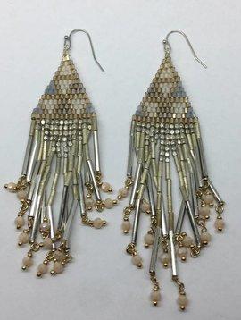 Nakamol Design Beaded Tassel Earring