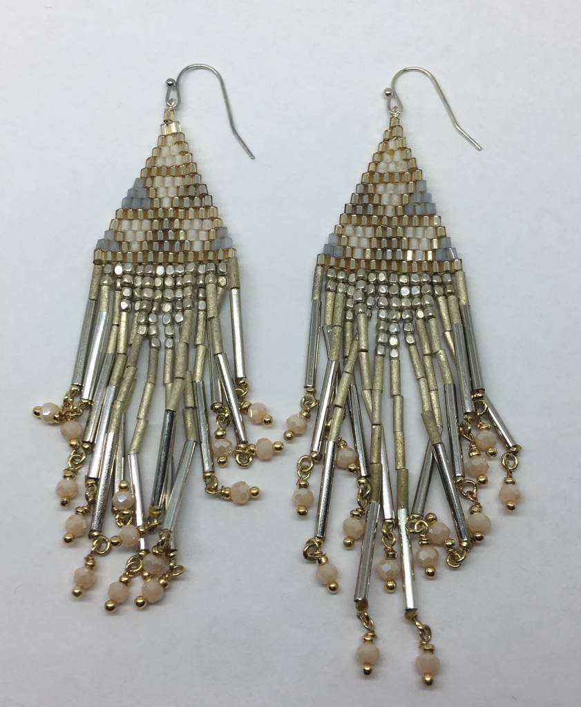 Nakamol Design Beaded Tassel Earrings