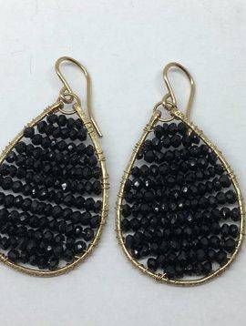 SonyaRenee Black Posh Earrings