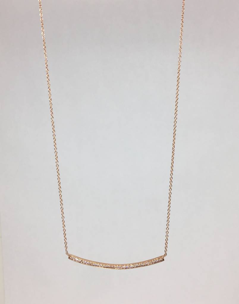 Dana Rebecca Curved Bar Necklace