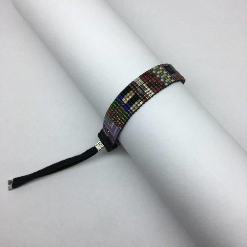 Julie Rofman Handwoven Glass Beaded Bracelet Goa