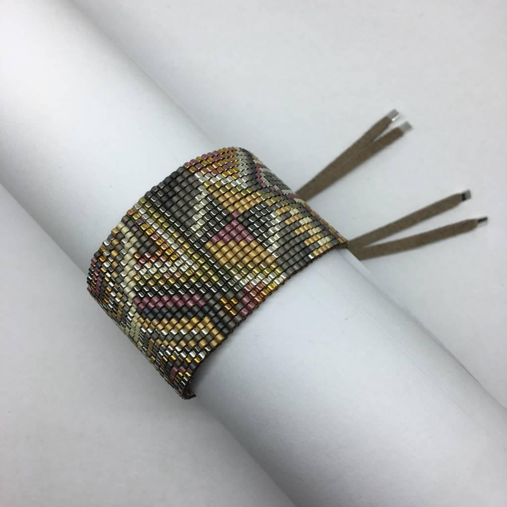 Julie Rofman Handwoven Glass Beaded Bracelet Alta
