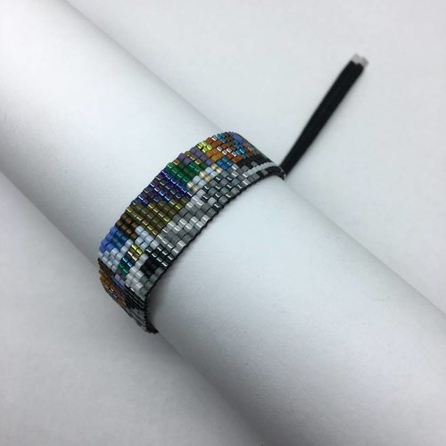 Julie Rofman Handwoven Glass Beaded Bracelet Dakota