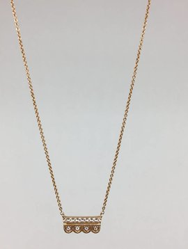 Dana Rebecca Scalloped Bar Necklace