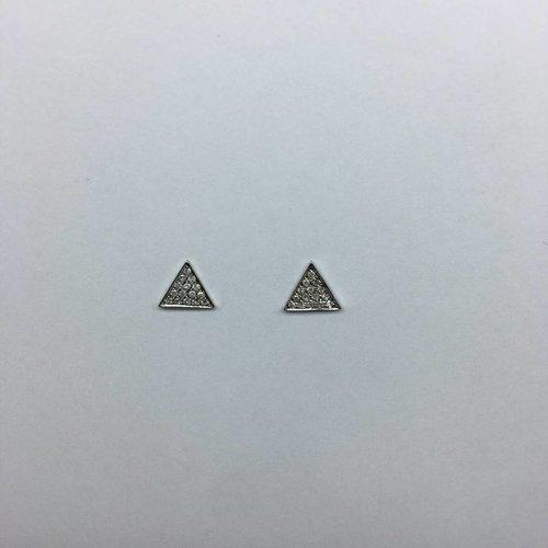 Dana Rebecca Diamond Triangle Earrings