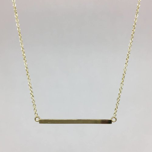 Jennifer Meyer Gold Bar Necklace