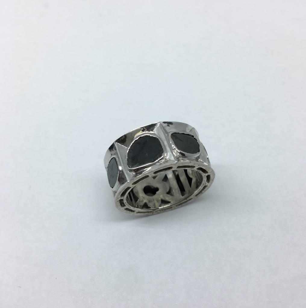 United Gemco Black Diamond Ring