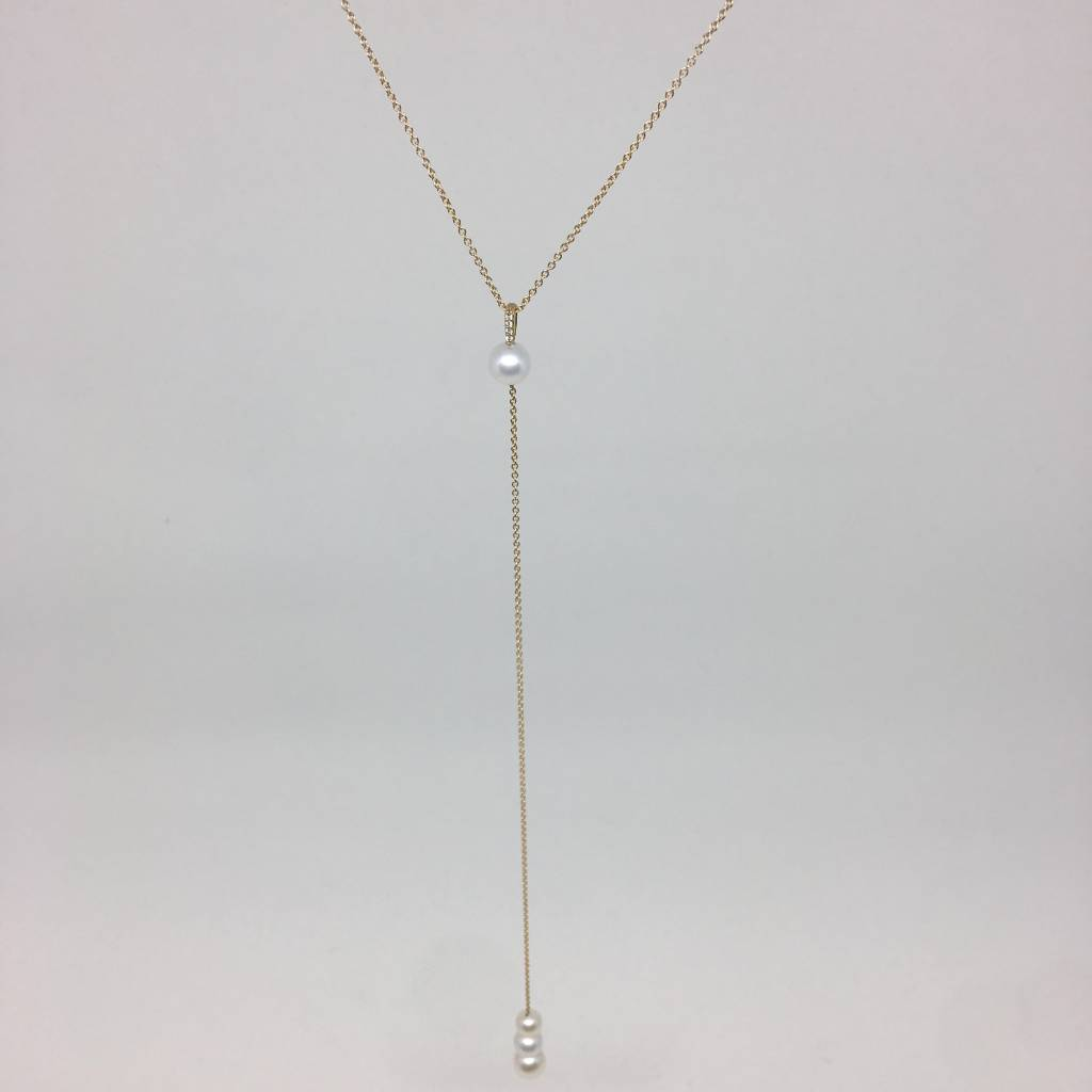 Zoe Chicco Pearl Lariat Necklace
