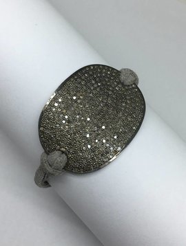 Lera Jewels Pave Diamond Oval Bracelet