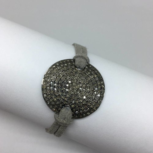 Lera Jewels Grey suede bracelet