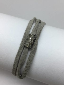 Lera Jewels Grey Wrap Bracelet