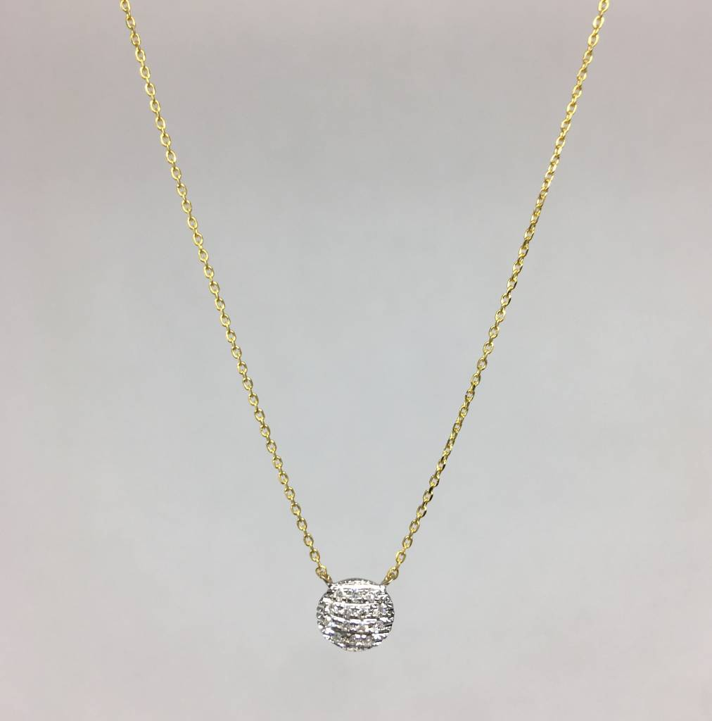 Dana Rebecca Yellow gold round necklace
