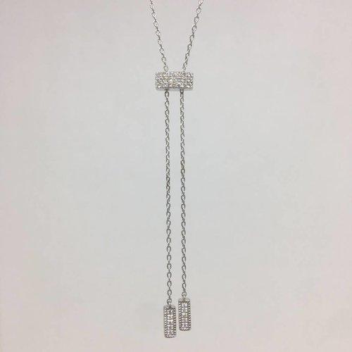 Dana Rebecca White gold lariat necklace
