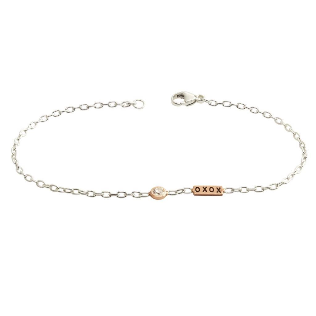 Heather Moore XOXO Diamond Bezel Bracelet